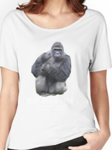 RIP HARAMBE - WHITE TEXT Women's Relaxed Fit T-Shirt