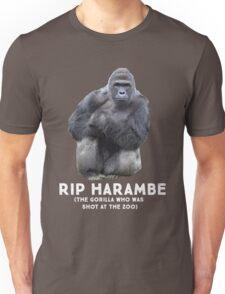 RIP HARAMBE - WHITE TEXT Unisex T-Shirt