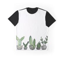 Watercolor Cacti Set Graphic T-Shirt