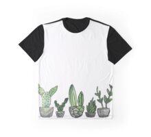 Watercolor Cacti Set Graphic T-Shirt