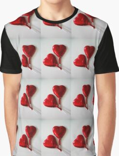 2 Hearts Valentine Card Graphic T-Shirt