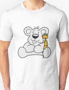 cuddling young stroke kuscheltier shot sweet little cute polar teddy bear sitting funny dick Unisex T-Shirt