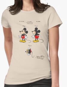 Mickey Mouse Patent - Colour Womens Fitted T-Shirt