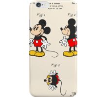 Mickey Mouse Patent - Colour iPhone Case/Skin