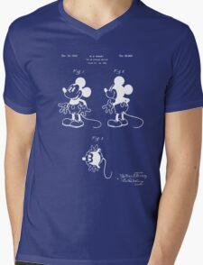Mickey Mouse Patent - Blueprint Mens V-Neck T-Shirt