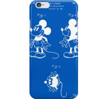 Mickey Mouse Patent - Blueprint iPhone Case/Skin
