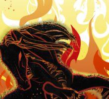 Fire dancing horse Sticker
