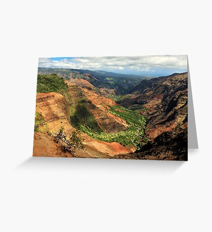 Waimea Canyon From The West Greeting Card