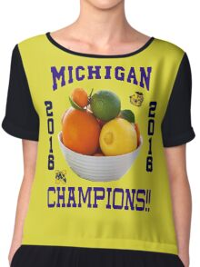 Michigan! Bowl CHAMPIONS AGAIN!!!! Chiffon Top