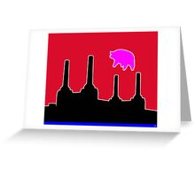 PINK FLOYD FLYING PIG OVER BATTERSEA Greeting Card