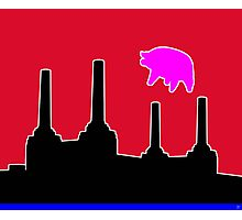 PINK FLOYD FLYING PIG OVER BATTERSEA Photographic Print