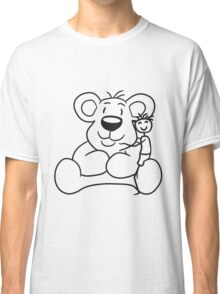 cuddling young stroke kuscheltier shot sweet little cute polar teddy bear sitting funny dick Classic T-Shirt