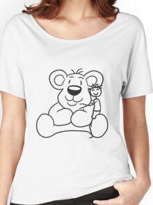 cuddling young stroke kuscheltier shot sweet little cute polar teddy bear sitting funny dick Women's Relaxed Fit T-Shirt
