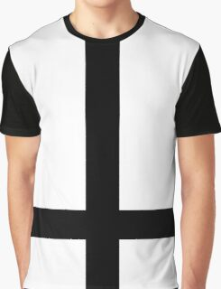 Inverted Cross Black Graphic T-Shirt