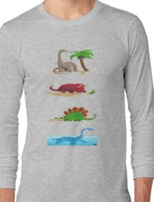 Dinos...I wanted to have lived with them Long Sleeve T-Shirt