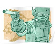 Fallout: New Vegas - Frontier Justice (Mint/Orange) Poster