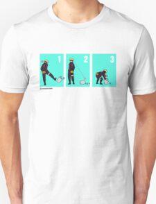 Boruto + Trash Can (Black Lineart) T-Shirt