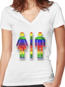 Equal Access & Equal Rights in North Carolina Women's Fitted V-Neck T-Shirt