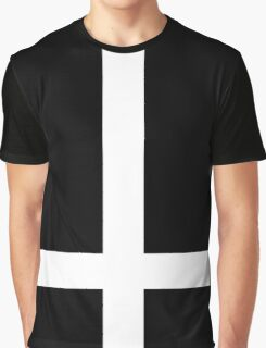 Inverted Cross White Graphic T-Shirt