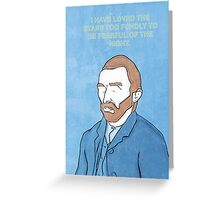Vincent Van Gogh. Greeting Card