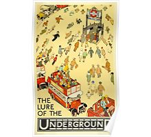 The Lure of the Underground London Vintage Travel Poster Poster