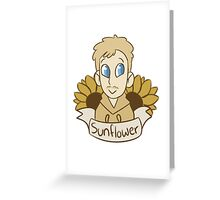 "Marble Hornets: Brian Thomas ""Sunflower"" Greeting Card"