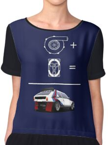 Forced Induction Equation 2 (White) Chiffon Top