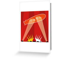 ZEPPELIN OVER THE O2 Greeting Card