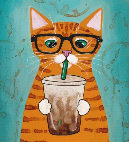 Iced Coffee Cat Sticker