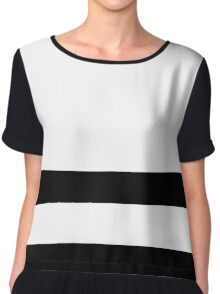 Double Stripe Black Women's Chiffon Top