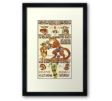 Bug Fight Framed Print