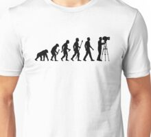 Funny Evolution of Cameraman Unisex T-Shirt