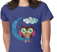 My Crescent Owl Womens Fitted T-Shirt