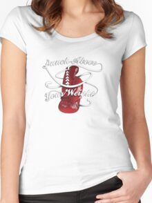 Punch Above Your Weight  Women's Fitted Scoop T-Shirt
