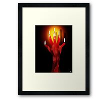 HAND OF FATE Framed Print