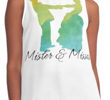 Mister and Missus, Customizable watercolor Wedding favor celebration Contrast Tank