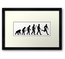 Evolution of Rugby  Framed Print
