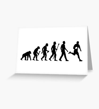 Evolution of Rugby  Greeting Card