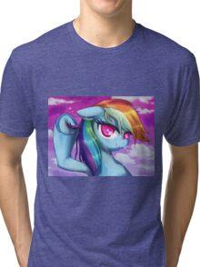 Wet Rainbow Dash Tri-blend T-Shirt