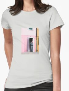 Man in the Doorway Womens Fitted T-Shirt