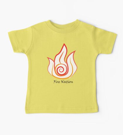 Fire Nation Symbol Baby Tee