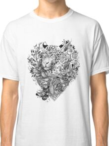 black and white Jungle Leopard Classic T-Shirt