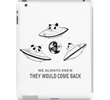Independence day-Pandas invaders iPad Case/Skin
