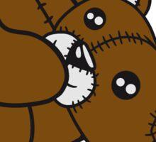 keep creepy head torn beheaded dead murder headless teddy sitting horror halloween evil Sticker