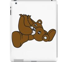 keep creepy head torn beheaded dead murder headless teddy sitting horror halloween evil iPad Case/Skin