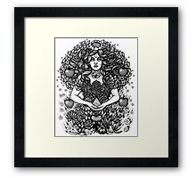 Divine Mother Gea Tree / BW Framed Print