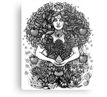Divine Mother Gea Tree / BW Metal Print