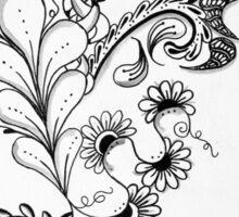 Traditional Black & White Zentangle Sticker
