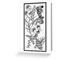 Traditional Black & White Zentangle Greeting Card