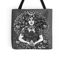 Divine Mother Gea Tree / BW Tote Bag